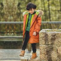 中大童冬季男童中长款棉衣外套加厚棉袄儿童冬装2018新款韩版洋气