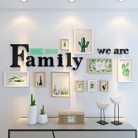 简约现代客厅照片墙装饰卧室相片墙创意个性相框挂墙 组合连体挂