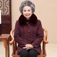 老年人冬装女装加厚中长奶奶60-70-80岁老人衣服妈妈棉袄老年外套