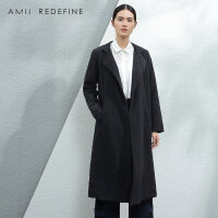[AMII东方极简] JII AMII2016冬新款女装文艺翻领纯棉外套中长款大码加厚棉服