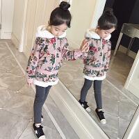 女童冬装套装韩版加绒加厚潮衣小女孩卫衣时髦洋气秋冬儿童两件套