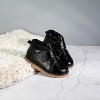 儿童靴子女男童短靴软底加绒宝宝马丁靴1-3-8岁冬季棉靴鞋