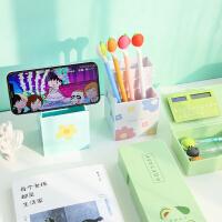 折叠笔盒小清新笔筒式多功能学生创意个性可爱可站立文具盒铅笔盒