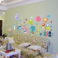 墙纸贴壁纸宝宝装饰墙纸贴画墙贴自粘卧室卡通大象贴纸可移除