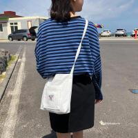 帆布包女单肩包斜挎包2018新款帆布学生购物袋包