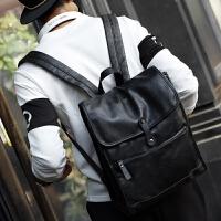 男士双肩背包书包韩版潮学院风大中学生电脑包旅行登山休闲商务
