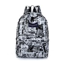 帆布双肩包女韩版潮高中学生书包女生日韩电脑背包休闲英伦学院风