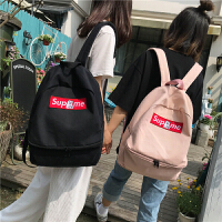 书包少女韩版潮高中大学生双肩包2018新款帆布小清新街拍背包