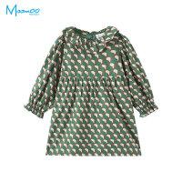 【1件3折价:80.7】moomoo童装女童连衣裙新款装洋气韩版几何图案中大儿童裙子