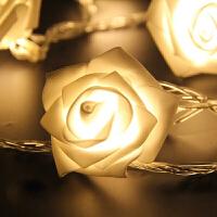 仿真玫瑰舞台摄影满天星小彩灯 户外浪漫节日春节LED彩灯闪灯串灯
