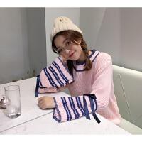 毛衣女装秋冬新款保暖宽松套头针织衫打底衫学生外套上衣 均码(75-130斤可穿)
