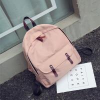 新款韩版双肩包男女学院风防水旅行包潮高中学生背包百搭帆布书包