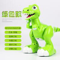 智能电动恐龙霸王龙会走路儿童遥控恐龙玩具机器人仿真345岁男孩 绿色款 - 六大功能(礼盒装) 官方标配