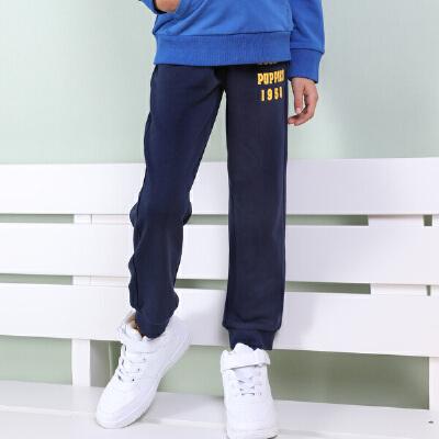 【159元2件】暇步士童装新品男童简约长裤运动裤儿童运动裤休闲裤 暇步士大牌日