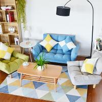 双人沙发组合小户型省空间客厅懒人沙发床可折叠现代简约布艺沙发 一双人两单人组合 颜色备注