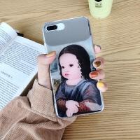 P苹果X手机壳iphone7补妆XR镜子XSMAX亮面8plus女iphoneXMax可爱6s少女6