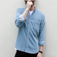 灯芯绒衬衫男长袖纯棉男装条绒衬衣灯芯绒外套男秋款日系ifas