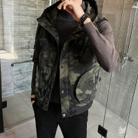 羽绒马甲男冬季冬装工装迷彩男外套