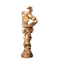 落地钟客厅欧式立式钟表马摆件奢华大座钟美式复古立钟现代古典表 8英寸