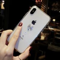 苹果X手机壳新款女iphone7plus全包防摔韩国6s水钻8p透明个性