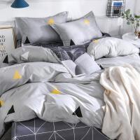 床上夏被四件套水洗棉空调被单双人可机洗三件套夏季夏凉被薄裸睡