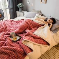 冬季三层加厚珊瑚绒毯子保暖双层法兰绒毛毯单双人宿舍学生单被子