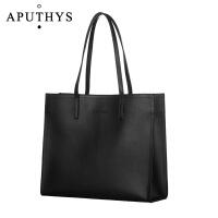 新款托特女包大包OL通勤包简约大容量女士时尚手提包单肩大包 黑色【大号】 预售11-13号发货