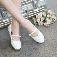 女童鞋子春款2018新款儿童黑色皮鞋小孩豆豆鞋学生公主鞋女孩春鞋SN5357