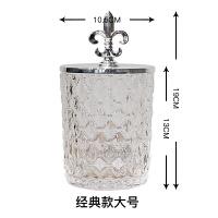 美式北欧样板间金属不锈钢鹿头玻璃器皿储物罐摆件家居软装饰品