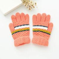 儿童手套冬季五指保暖宝宝全指可爱加厚小孩学生男童女童分指手套 3-12岁(弹性大)