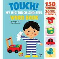 【现货】英文原版Touch! My Big Touch-and-Feel Word Book 学英语单词 触摸大书 1