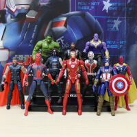 漫威复仇者联盟3无限战争模型玩具周边蜘蛛侠灭霸钢铁侠蚁人2 送手提袋