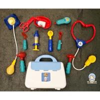 出口美国儿童仿真医生13件手提套装玩具女孩医药箱过家家角色扮演 箱13件套装