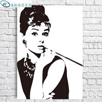 玛丽莲梦露海报 奥黛丽赫本墙壁画卧室床头画人物艺术酒吧挂画