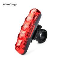 酷改自行车尾灯山地车尾灯自行车警示灯LED警示灯后尾灯单车配件
