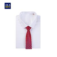HLA/海澜之家时尚婚庆领带2018秋季新品花纹男士领带