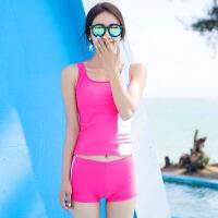 泳衣女分体保守学生韩国温泉显瘦少女运动背心平角裤游泳装女8812