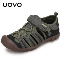 【下单立减100】UOVO包头男童凉鞋2018新款夏季儿童沙滩鞋 苏拉威