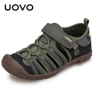 UOVO包头男童凉鞋2018新款夏季儿童沙滩鞋 苏拉威