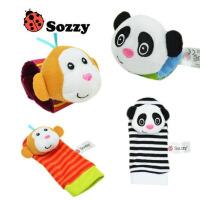?宝宝动物手表带手腕带子袜子带小摇铃响铃 婴儿新生儿玩具