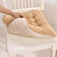 冬季加厚羊羔绒坐垫 学生办公室椅子垫保暖垫子靠垫绒面汽车坐垫
