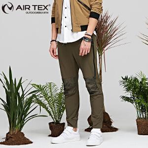 AIRTEX亚特户外春夏男士时尚弹力小脚休闲裤休闲插色轻便男款长裤