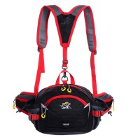 腰包女 多功能户外旅游装备登山防水骑行运动水壶单肩斜大跨包男