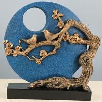 家居装饰品树脂工艺品摆件喜上枝头摆件美欧式树脂