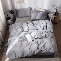 新品秒杀冬季良品天鹅绒加厚保暖纯色床笠款四件套短毛珊瑚绒床上用品
