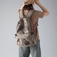 双肩包男女韩版休闲帆布背包大容量旅行包运动包中学生书包电脑包