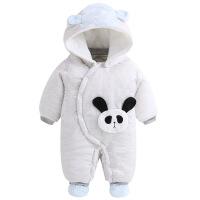 婴儿连体衣秋冬加厚套装男女宝宝冬装棉衣外出抱衣新生儿衣服冬季