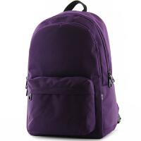 双肩包女包背包男书包大学高中学生韩版潮轻便休闲防水旅游旅行包 紫色