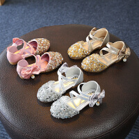 女童包头凉鞋童鞋女儿童水钻公主鞋中大童小女孩凉鞋