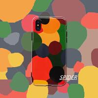 文艺彩色几何苹果xs手机壳iphone7plus/8/xsmax软壳防摔7潮女款6s